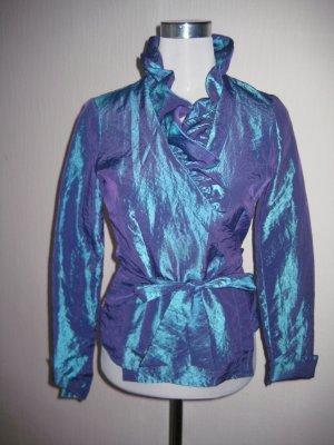 Blusa cruzada azul neón-lila