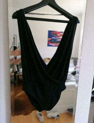 Pull & Bear Blusa tipo body negro