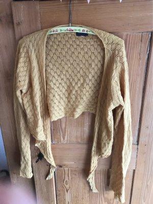 Avoca Boléro en tricot orange doré