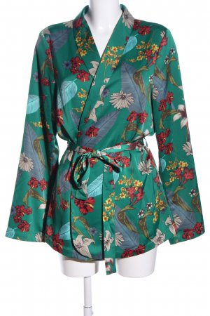 Wraparound Jacket flower pattern elegant