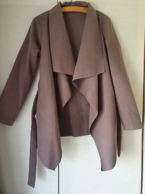 Wickeljacke in taupe