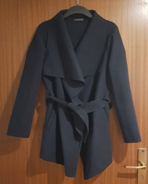STYLEBOOM Wraparound Jacket dark blue