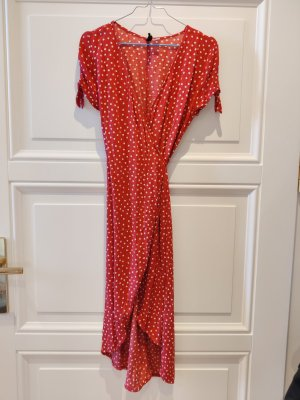 H&M Divided Robe portefeuille blanc-rouge