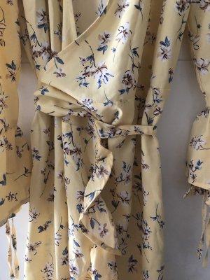 H&M Kopertowa sukienka jasnożółty