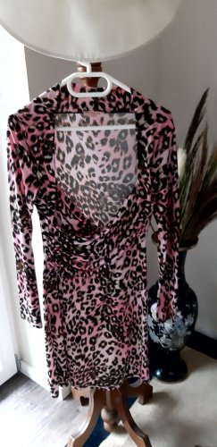 Fifilles Paris Vestido cruzado rosa-negro Poliéster