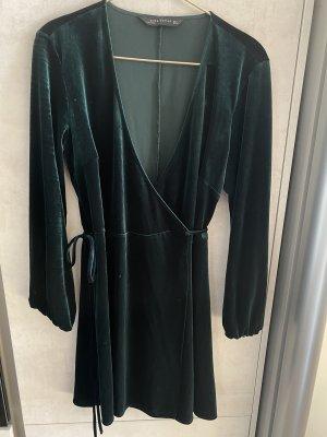 Wickelkleid aus Samt Zara