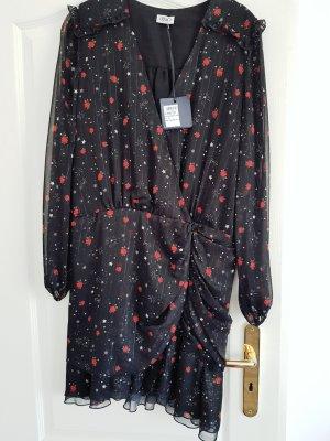 Liu jo Szyfonowa sukienka czarny-czerwony