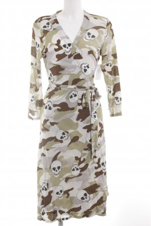 Robe portefeuille motif de camouflage style classique