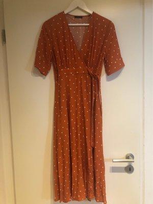 One More Story Kopertowa sukienka ciemny pomarańcz