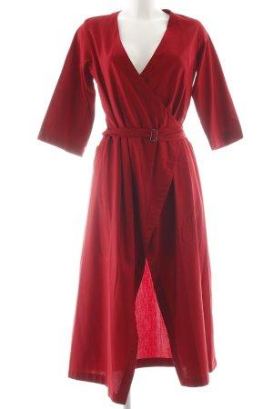 Robe portefeuille rouge foncé élégant