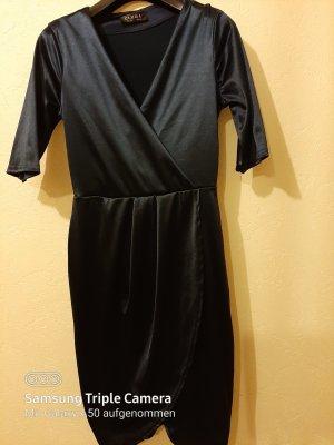 0039 Italy Vestido cruzado azul oscuro