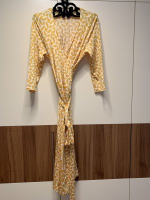 Wickelkleid gelb