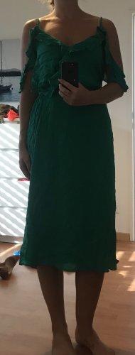 Kopertowa sukienka leśna zieleń-zielony
