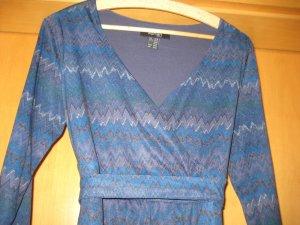 Robe portefeuille gris ardoise-argenté polyester