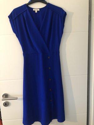 Kopertowa sukienka niebieski-ciemnoniebieski