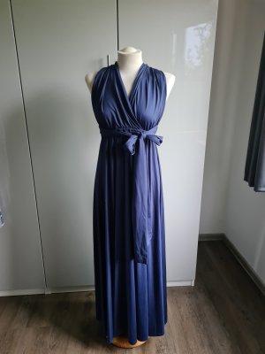 Vestido cruzado azul