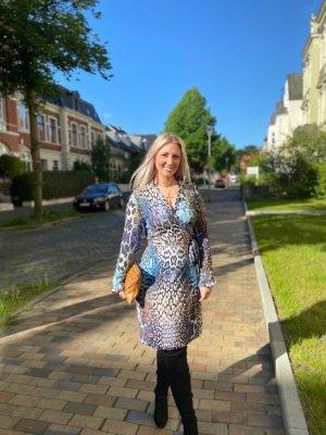 Wickelkleid Leoprint blau Diane von Furstenberg
