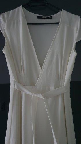 Bik Bok Robe portefeuille blanc-blanc cassé