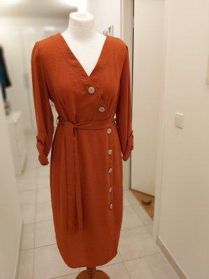 Primark Kopertowa sukienka rudy