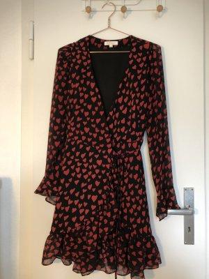 Effeny Kopertowa sukienka czarny-ciemnoczerwony