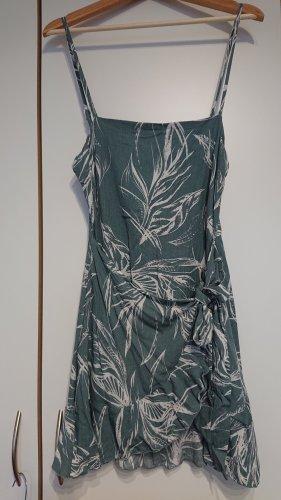 Wickelkleid mit Rüschen tropical print grün weis