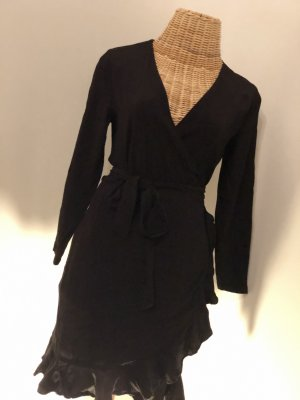 aus Italien Vestido cruzado negro