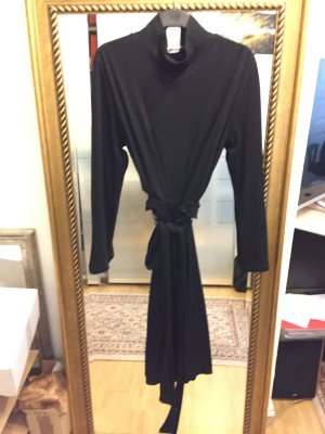 DKNY Kopertowa sukienka czarny Wełna