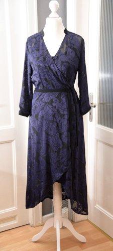 Expresso High Low Dress black-blue