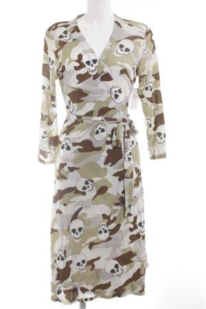 Robe portefeuille Mélange de motifs style mode des rues