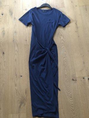 Polo Ralph Lauren Vestido cruzado azul acero Algodón
