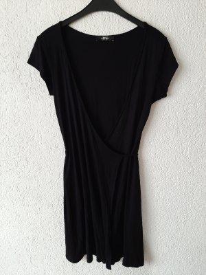 Melrose Vestido cruzado negro