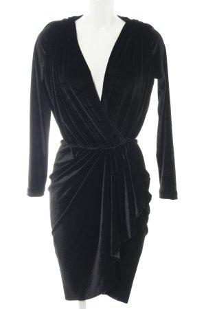 Robe portefeuille noir élégant