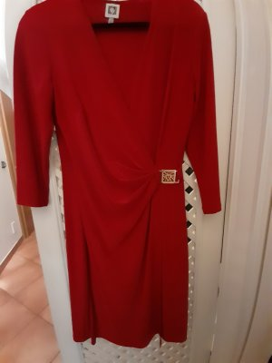Anne Klein Kopertowa sukienka ciemnoczerwony
