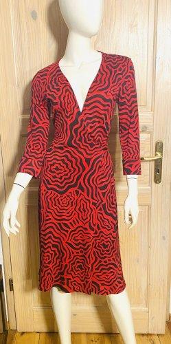 Diane von Fürstenberg Kopertowa sukienka ciemnoczerwony-czarny Jedwab