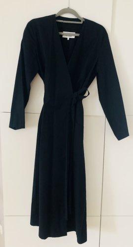 Wickelkleid von MM6 MAISON MARGIELA Paris in Größe 38/40 schwarzes Kleid