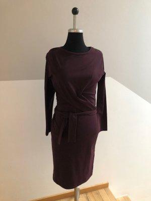 MYSURO Kopertowa sukienka purpurowy Bawełna