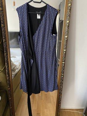 Robe portefeuille noir-bleu