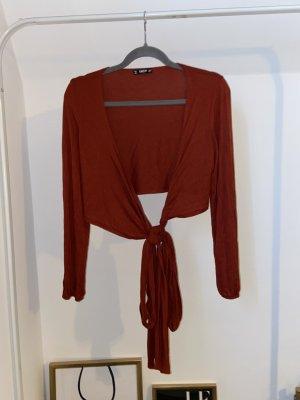 SheIn Maglietta aderente rosso mattone-ruggine