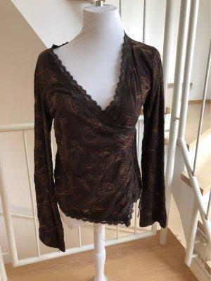 Promod Kopertowa bluzka brązowy-ciemnobrązowy