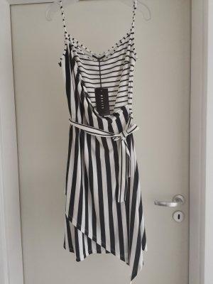 Wickeloptik Kleid Gr. M von Mohito mit Streifen