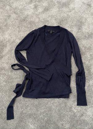 Wickelpulli H&M, dunkelblau, Gr. 36, Strick, einwandfreier Zustand