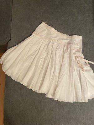 Armani Exchange Kopertowa spódnica w kolorze białej wełny