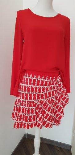 Claudie Pierlot Kopertowa spódnica biały-czerwony