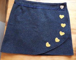 Wraparound Skirt dark blue