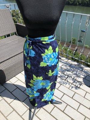 Falda cruzada azul oscuro-azul aciano