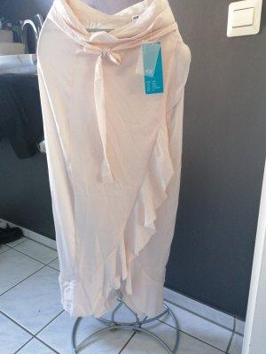 H&M Falda cruzada albaricoque