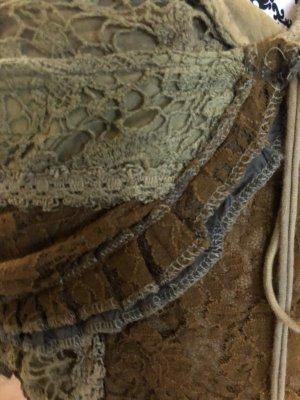 Falda cruzada marrón arena