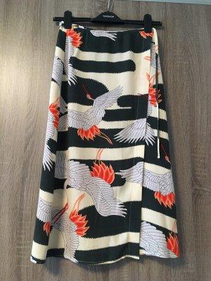 Topshop Wraparound Skirt multicolored