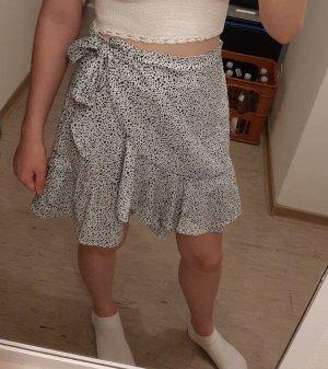 SheIn Wraparound Skirt white-black