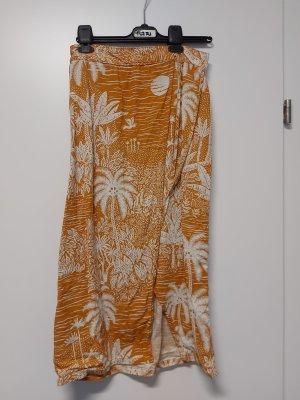 H&M Kopertowa spódnica biały-brzoskwiniowy